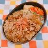 豚丼のお弁当(息子の部活のお弁当)