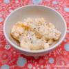 カリフラワーとゆで卵のカッテージチーズサラダ