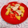 鶏胸肉とじゃがいものローズマリー塩麹炒め