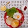超熟イングリッシュマフィンの朝食