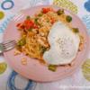 鶏ひき肉とトマトバジルのスパゲッティ