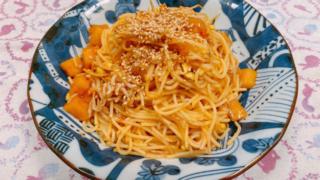 しらすと大根キムチのスパゲッティ