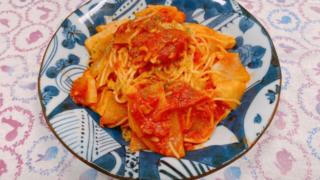 大根とツナのトマトスパゲッティ