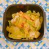 キャベツと甘塩鮭のバタぽん炒め