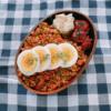 鶏ひき肉のドライカレー弁当