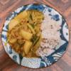 蕪と豚ひき肉のカレー風味あんかけご飯