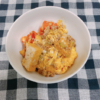 ふんわり卵と厚揚げ、トマトの花椒炒め
